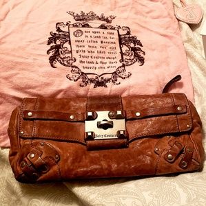 Juicy couture pink leather clutch
